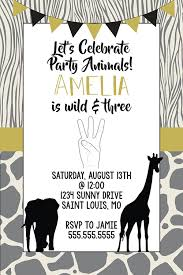amazon com birthday invitations 3rd birthday young wild and