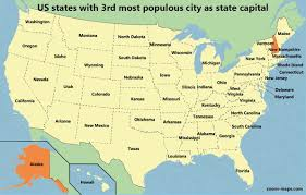 Map Of States With Capitals by Relative Population Ranking Of Us State Capitals Zoom Maps