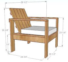 Patio Wooden Chairs How To Build A Simple Diy Outdoor Patio Lounge Chair