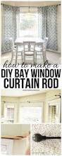 How To Hang Bay Window Curtains Best 25 Bay Window Curtain Rod Ideas On Pinterest Corner