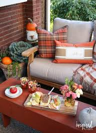 Fall Patio Fall Patio Porch Decorating Ideas With Beautiful Pillows Found