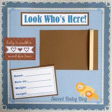 12x12 Scrapbook Boy Scrapbook Layouts Sale Baby Boy 12x12 Scrapbook Pages Album