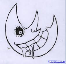 drawn lunar soul eater pencil and in color drawn lunar soul eater