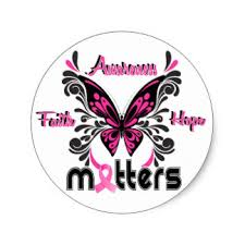 breast cancer butterfly stickers zazzle