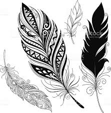 a feather pattern in black and white designs stock vector