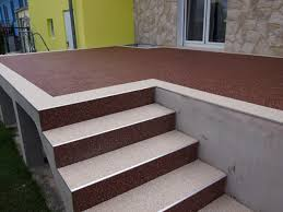 steinteppich verlegen treppe steinteppich bodenbelag ideal für die terrassengestaltung
