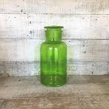 shop green glass canisters on wanelo