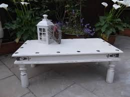 rustic grey coffee table rustic shabby chic coffee table sold moonstripe