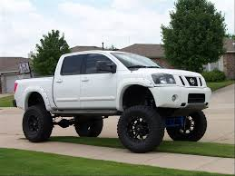 truck nissan titan nissan titan with lift kit running boards and fender flares