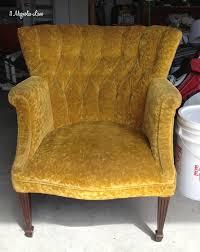 Armchair Velvet How To Paint Upholstery Fabric Black Velvet Chair 11 Magnolia Lane