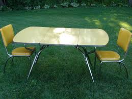 retro yellow kitchen table vintage yellow drop leaf formica table two thirdshift dma homes