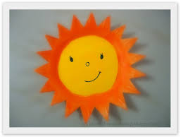 thermocol styrofoam plate sun artsy craftsy
