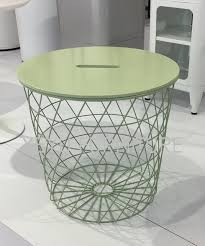 Wire Coffee Table Dia 44cm Modern Minimalism Europe Storage Side Table Metal Wire