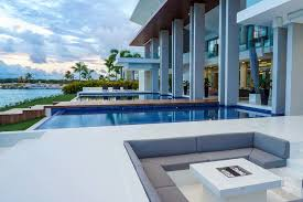 ultra modern and luxurious waterfront caribbean home with private