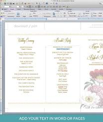 tri fold program poppy tri fold program template print