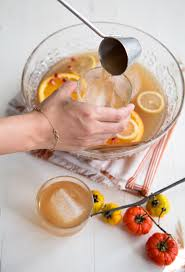 apple ginger punch with bourbon the little epicurean