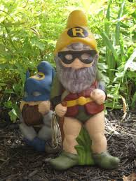 gnome batman robin gnomes yards and gardens