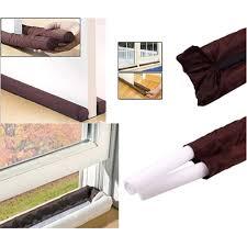 twin door draft dodger guard stopper for doors windows protector