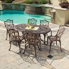 7 Piece Aluminum Patio Dining Set - shop best selling home decor hatian 7 piece antique copper