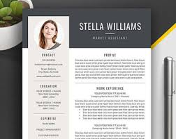 simple resume cover letters resume cover letter etsy