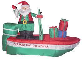 amazon com 8 foot long inflatable santa claus on a fishing boat