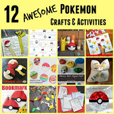 the activity mom pokemon crafts and activities for kids