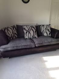 large 3 seater pillow back sofa and large swivel cuddle chair in