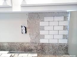 install tile backsplash kitchen remarkable installing subway tile backsplash how to install