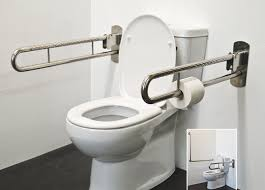 Toilet Handrail Stainless Steel Folding Drop Down Safety Rails Superquip