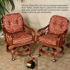dining room chairs casters leikela papaya medley tropical dining furniture set
