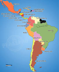 political map of central america and the caribbean world map america madrat co