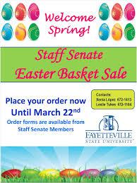 easter baskets for sale reminder fsu staff senate easter basket sale fsu news