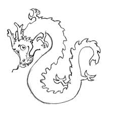 oriental dragon with pagoda chinese new year dragon coloring page