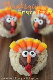 thanksgiving turkey rice krispie treats