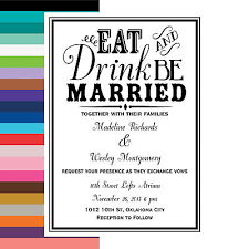 Eat Drink And Be Married Invitations Eat Drink U0026 Be Married Personalized Wedding Invitations