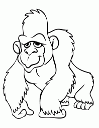 gorilla coloring pages clipart panda free clipart images