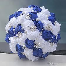 satin roses vini wedding bouquets bridal satin roses shiny beaded
