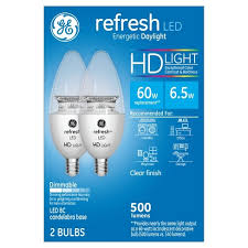ge hd light refresh refresh daylight hd 60watt equivalent deco bc blunt tip candelabra