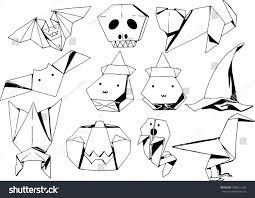 origami halloween origami halloween set stock vector 330621224 shutterstock