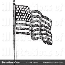 Black And White American Flag American Flag Clipart 1049817 Illustration By Bestvector