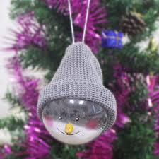 1pc transparent plastic snowman pendants hanging