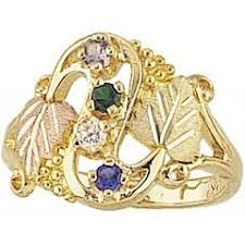 gold mothers rings black gold jewelry g900 gn gold s ring with genuine