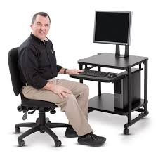 Anthro Sit Stand Desk by Transport Cart For Medical Devices With Shelf 2 Shelf
