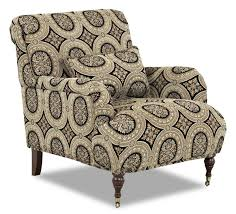 Accent Chair With Arms Traditional Accent Chair With English Arms And Turned Legs With