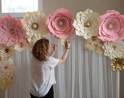 Wedding Backdrop Design Philippines Paper Flowers Etsy
