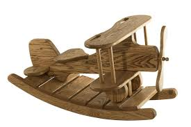 wooden airplane rocker from dutchcrafters amish furniture