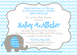 blue elephant baby shower invitations cimvitation