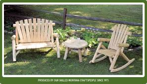 Log Outdoor Furniture by Rustic Log Furniture From Montana For Over 35 Years