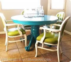 Diy Kitchen Table Ideas by Colorful Dining Room Tables 1000 Ideas About Painting Dining