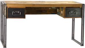 Reclaimed Boat Wood Furniture 56 Wide Desk Office Modern Solid Old Pine Wood Metal Quality Wood
